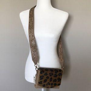 Beautiful Free People Crossbody Cheetah Bag NWT